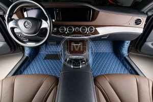 Manicci Luxury Car Floor Mats Blue 3