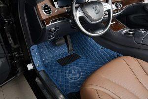 Manicci Luxury Car Floor Mats Blue 4