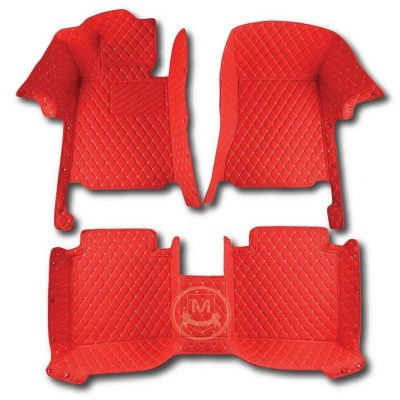 Manicci Luxury Car Floor Mats Racing Red 1