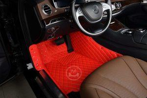 Manicci Luxury Car Floor Mats Racing Red 4