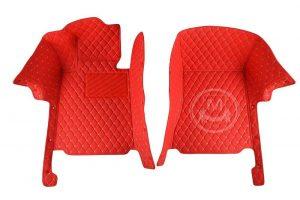 Manicci Luxury Car Floor Mats Racing Red 6