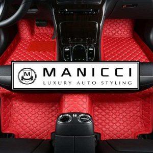 Racing Red Luxury Car Mats