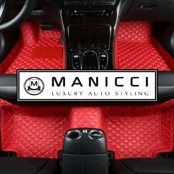 Racing Red Manicci Luxury Car Mats