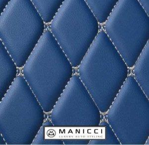 blue luxury car mats