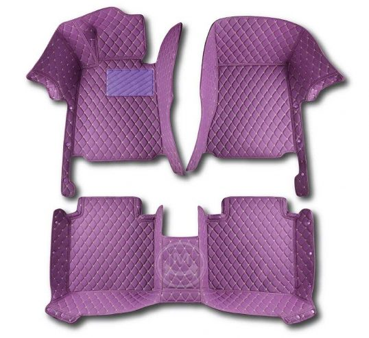 Manicci Luxury Car Floor Mats Purple 1