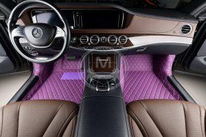 Manicci Luxury Car Floor Mats Purple 3