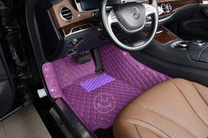 Manicci Luxury Car Floor Mats Purple 4