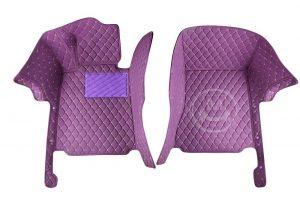 Manicci Luxury Car Floor Mats Purple 6