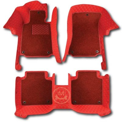 Manicci Luxury Car Floor Mats Premium Racing Red 1