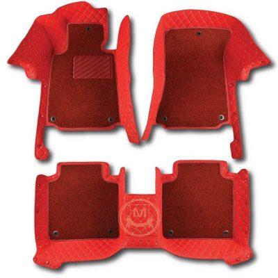 Manicci Luxury Car Floor Mats Premium Racing Red 1