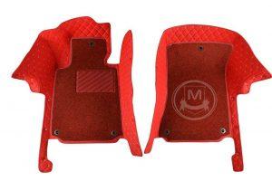 Manicci Luxury Car Floor Mats Premium Racing Red 3