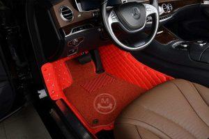 Manicci Luxury Car Floor Mats Premium Racing Red 5
