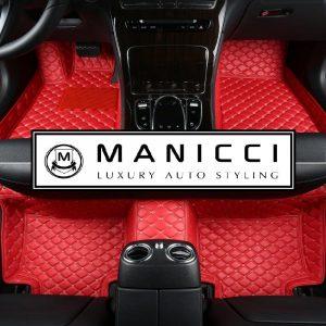 Manicci Racing Red Luxury Car Mats