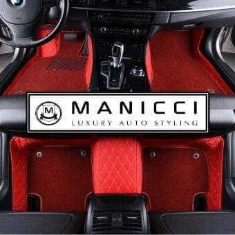 Premium Manicci Luxury Racing Red Diamond Car Mats 2
