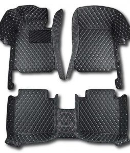 Manicci Luxury Car Floor Mats Black with white diamond 1