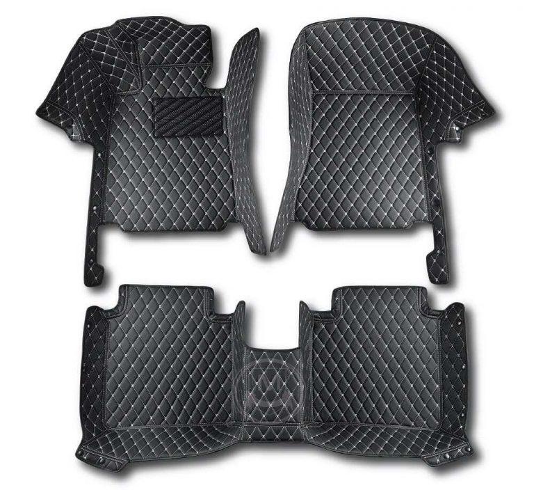 Manicci Luxury Car Floor Mats Black with white diamond 1