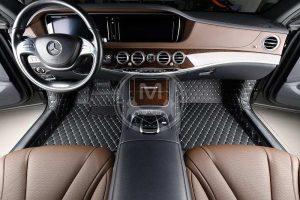 Manicci Luxury Car Floor Mats Black with white diamond 3 (1)