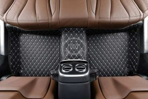 Manicci Luxury Car Floor Mats Black with white diamond 3 (2)