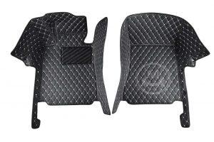 Manicci Luxury Car Floor Mats Black with white diamond 6