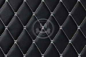 Manicci Luxury Car Floor Mats Black with white diamond 7