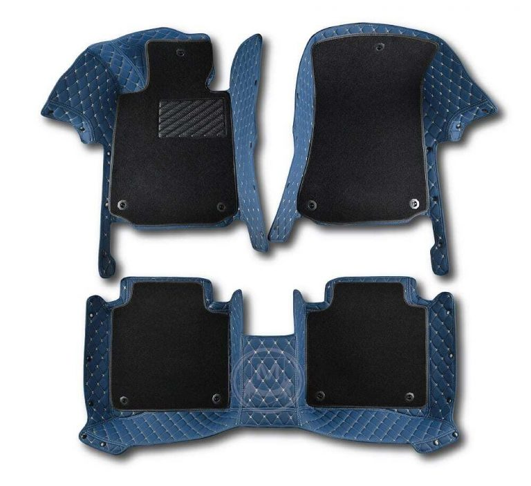 Manicci Luxury Car Floor Mats Premium Blue 1