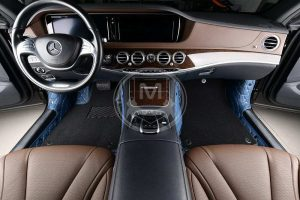 Manicci Luxury Car Floor Mats Premium Blue 3