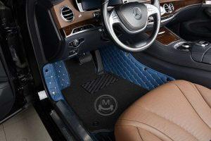Manicci Luxury Car Floor Mats Premium Blue 4