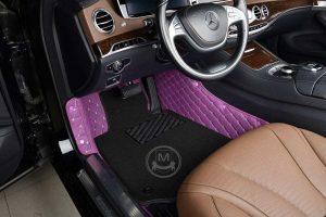 Manicci Luxury Car Floor Mats Premium Purple 3