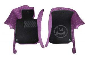 Manicci Luxury Car Floor Mats Premium Purple 5 (1)