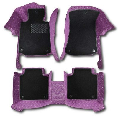 Manicci Luxury Car Floor Mats Premium Purple 7
