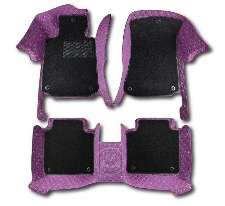 Manicci Luxury Car Floor Mats Premium Purple 7