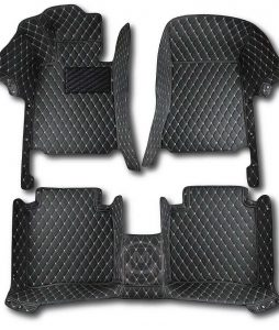 Manicci Luxury Car Floor Mats black with beige 1