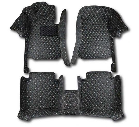 Manicci Luxury Car Floor Mats black with beige 1