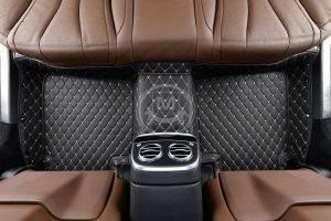 Manicci Luxury Car Floor Mats black with beige 2