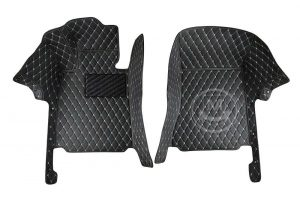 Manicci Luxury Car Floor Mats black with beige 6
