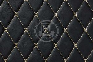 Manicci Luxury Car Floor Mats black with beige 7