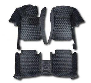 Manicci Luxury Car Floor Mats black with blue 1