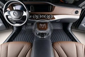 Manicci Luxury Car Floor Mats black with blue 3