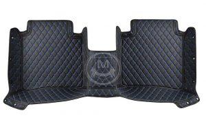 Manicci Luxury Car Floor Mats black with blue 5