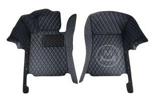 Manicci Luxury Car Floor Mats black with blue 6
