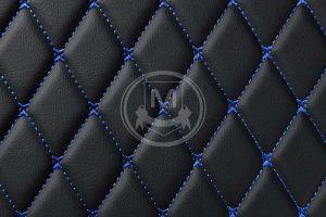 Manicci Luxury Car Floor Mats black with blue 7