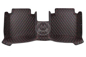 Manicci Luxury Car Floor Mats black with red 5