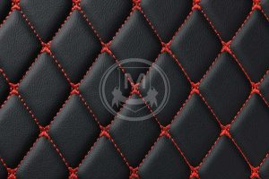 Manicci Luxury Car Floor Mats black with red 7