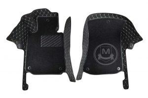 Premium Manicci Luxury Car Floor Mats black with beige 1