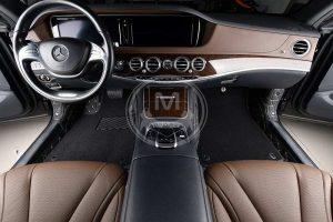 Premium Manicci Luxury Car Floor Mats black with beige 4