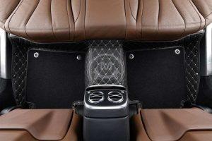 Premium Manicci Luxury Car Floor Mats black with beige 5