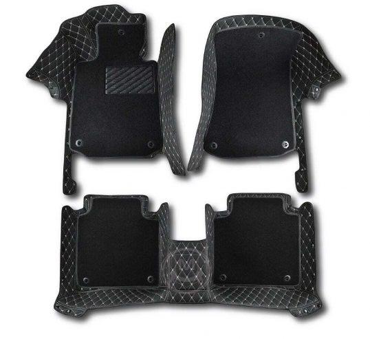 Premium Manicci Luxury Car Floor Mats black with beige 6