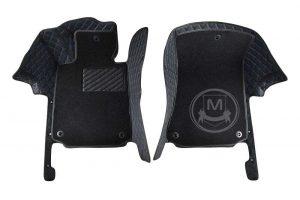 Premium Manicci Luxury Car Floor Mats black with blue 2 (1)