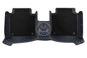 Premium Manicci Luxury Car Floor Mats black with blue 3