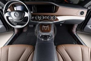 Premium Manicci Luxury Car Floor Mats black with red 2